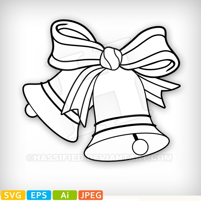 Christmas Bells - printable, vector, svg, art
