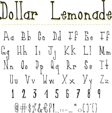 Dollar Lemonade Font