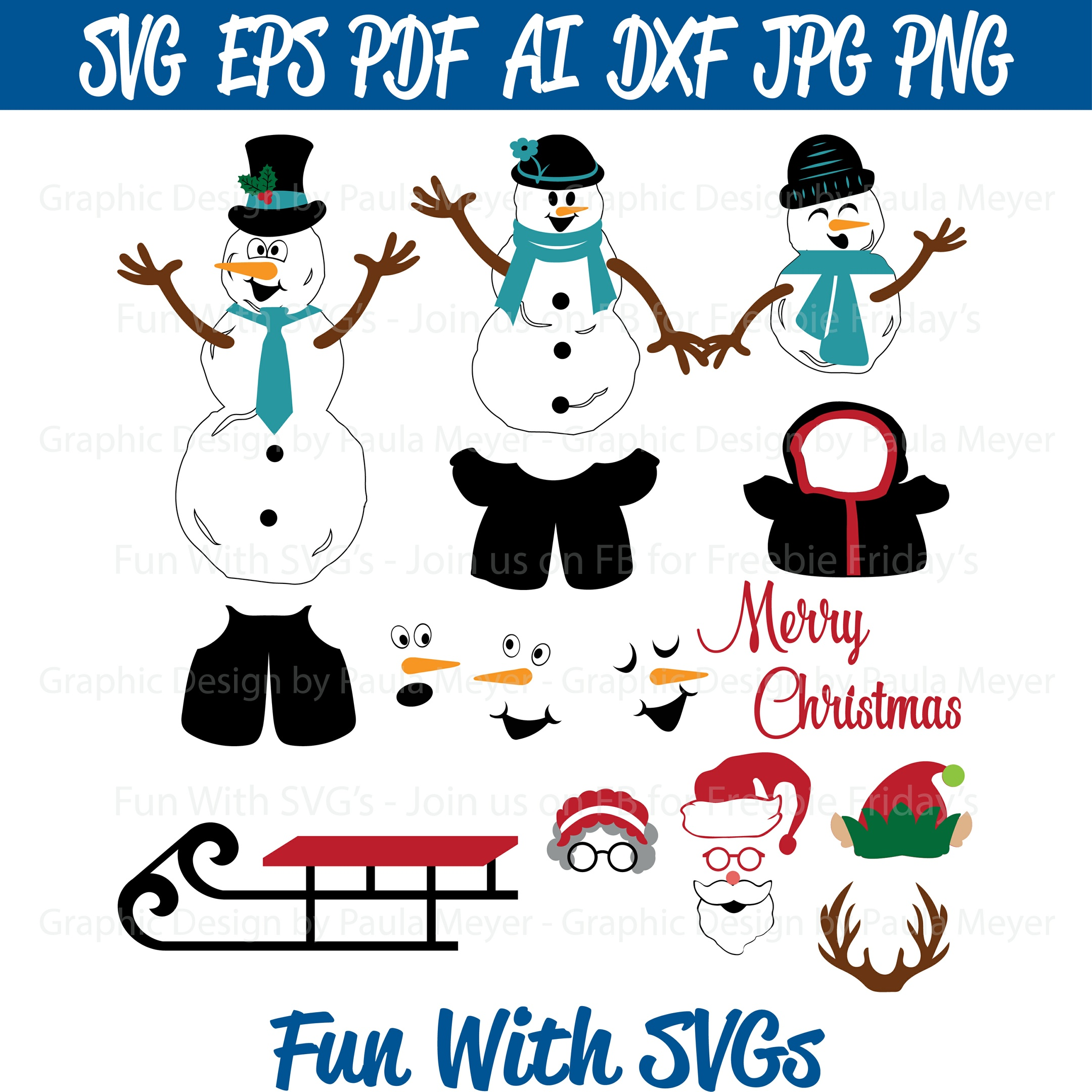 Do You Want to Build a Snowman - SVG Cut File, High Res. Printable Graphics and Editable Vector Art
