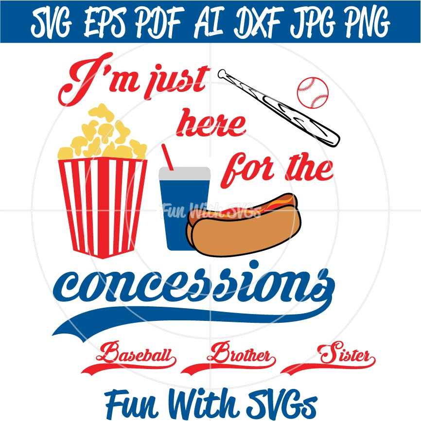 Baseball Concessions - SVG Cut File, High Resolution Printable Graphics and Editable Vector Art
