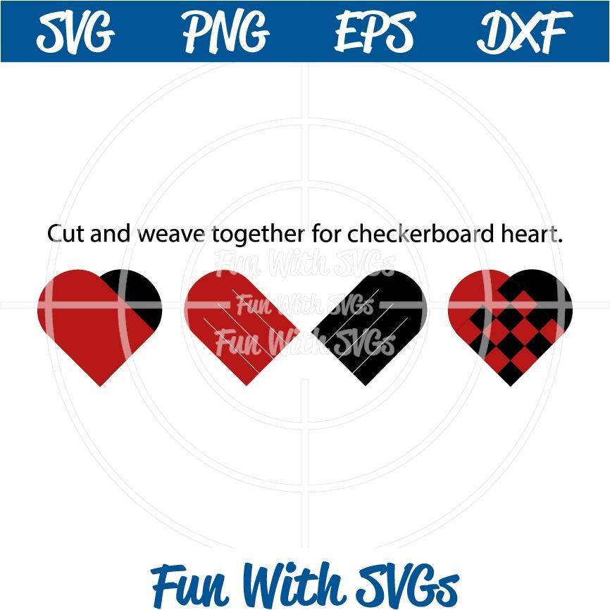 Heart Weave, Checkerboard Heart, SVG File