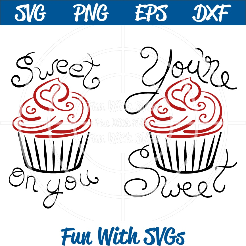 Sweet Cupcake SVG File for Personal Cutting Machines, Printable, Digital