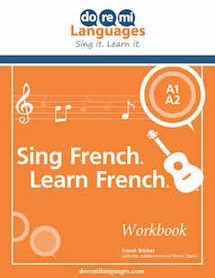CD + Workbook + Videos Sing French. Learn French.