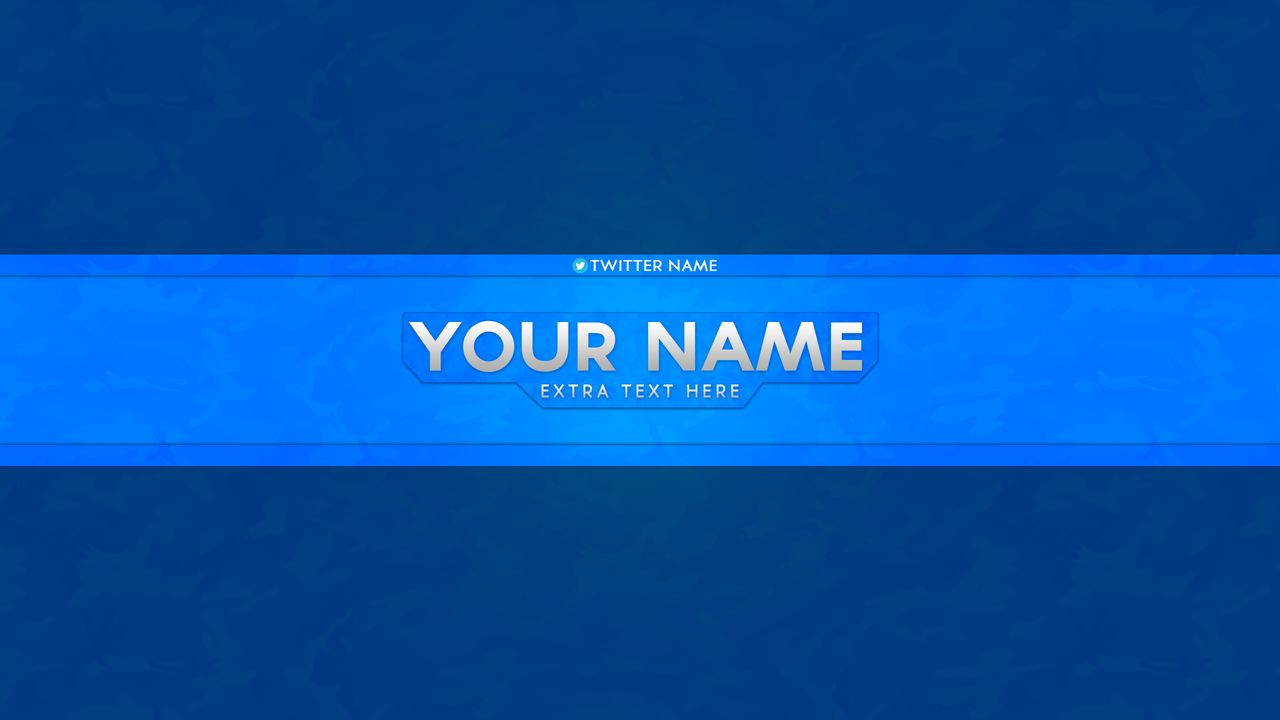 Football youtube banner template psd file blue youtube banner template psd file pronofoot35fo Choice Image
