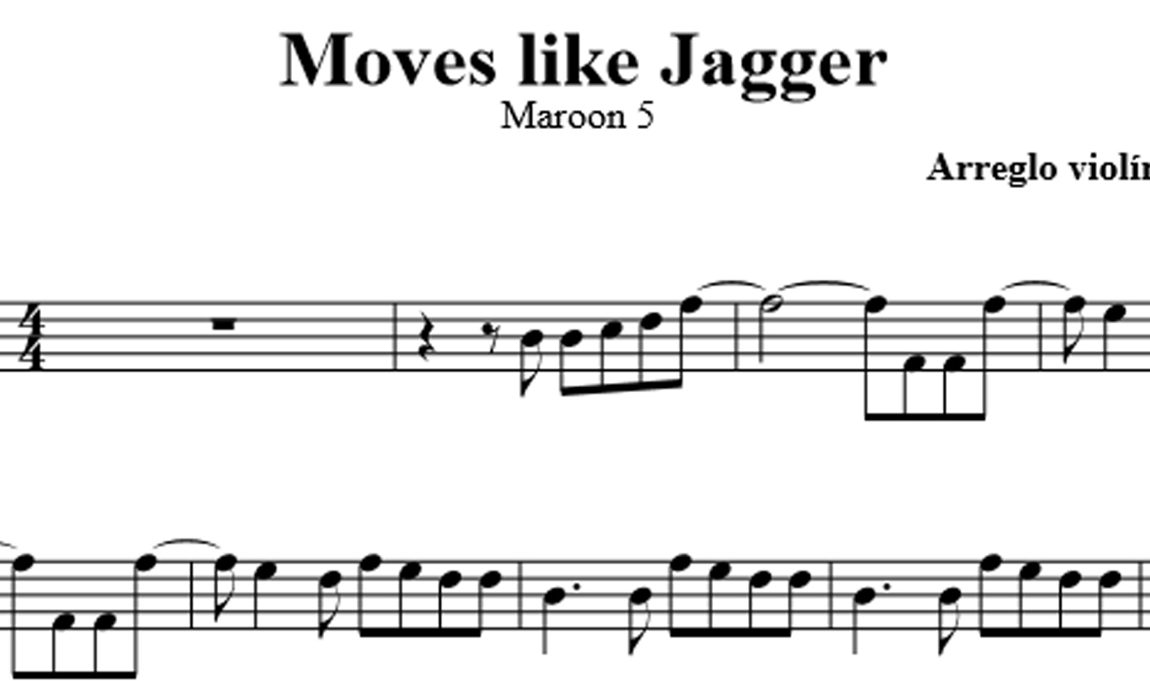 Moves like Jagger - Maroon 5