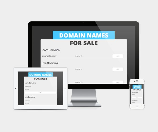 My Big Domain Sale Template