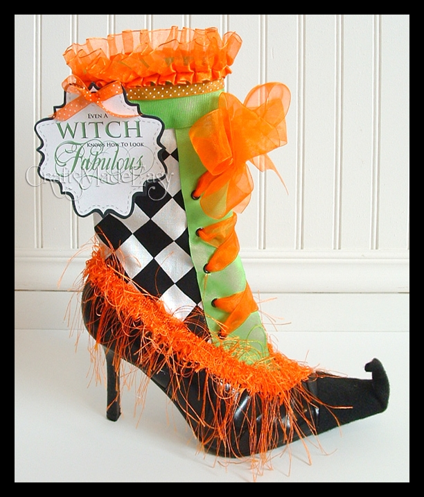 Witches Boot Tag