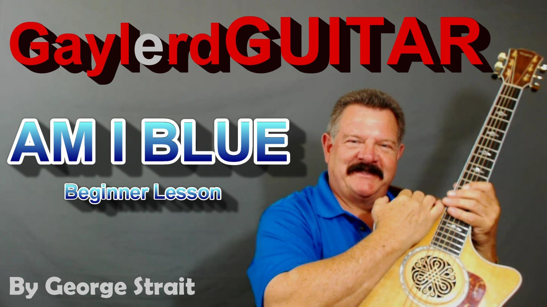 AM I BLUE  by George Strait - BEGINNER LESSON