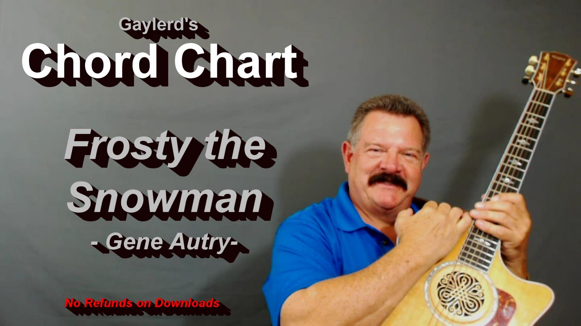 Frosty the Snowman - FREE  Chord Chart