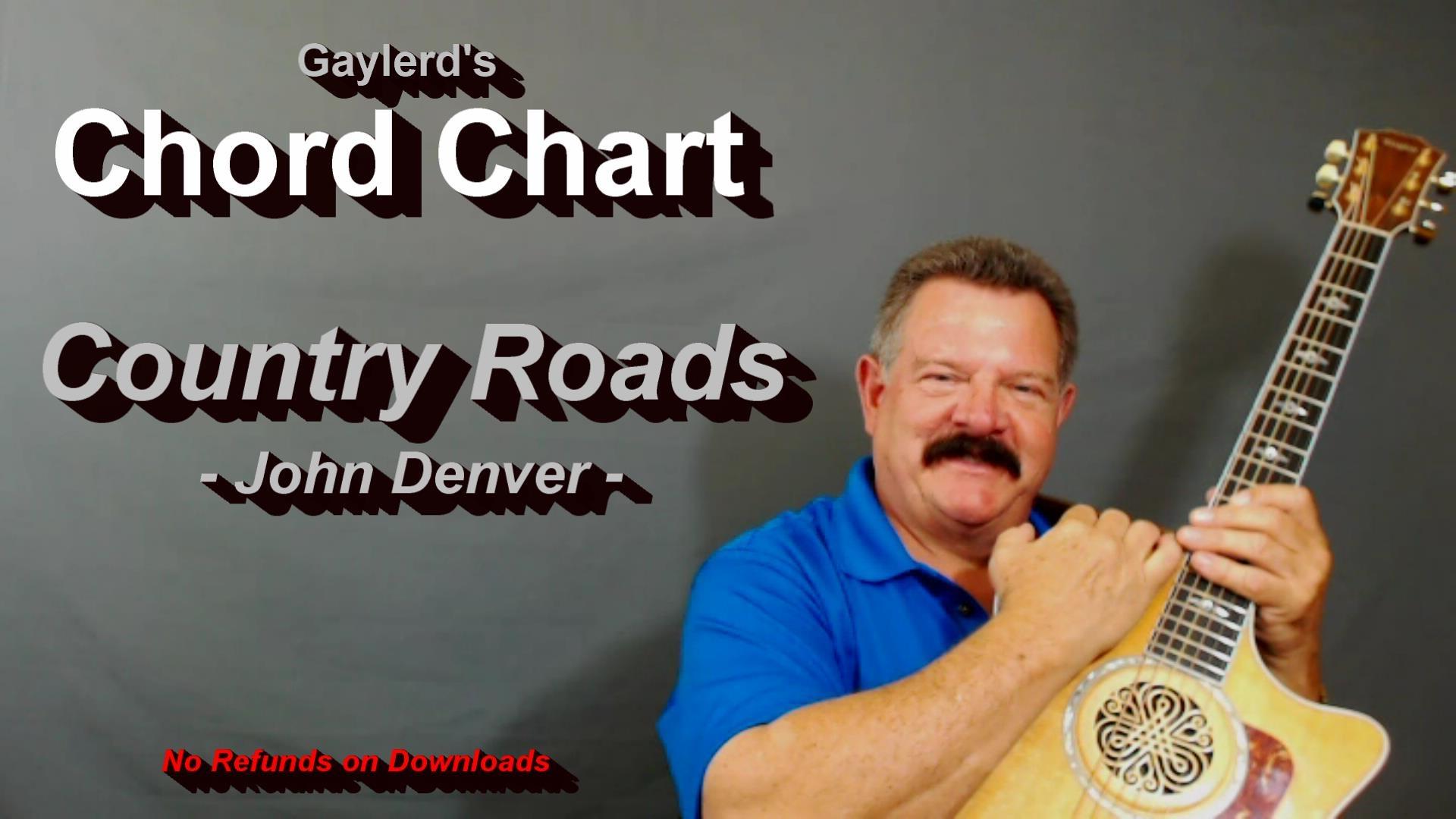 Country Roads - John Denver (CHORD CHART)