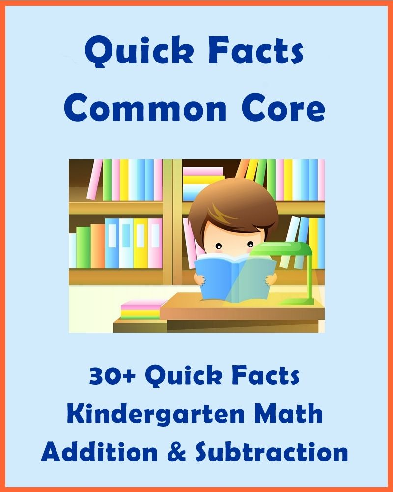 30+ Quick Facts: Common Core Kindergarten Math