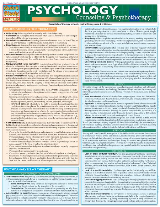 Psychology: Counseling & Psychotherapy