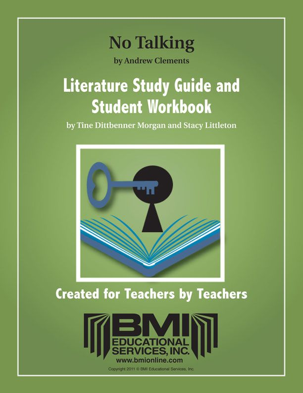 No Talking: Study Guide and Student Workbook (Enhanced ebook)