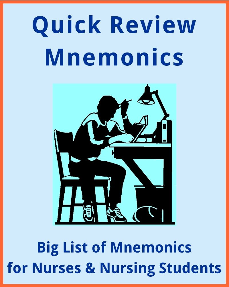 Big List of Mnemonics for Nurses and Nursing Students