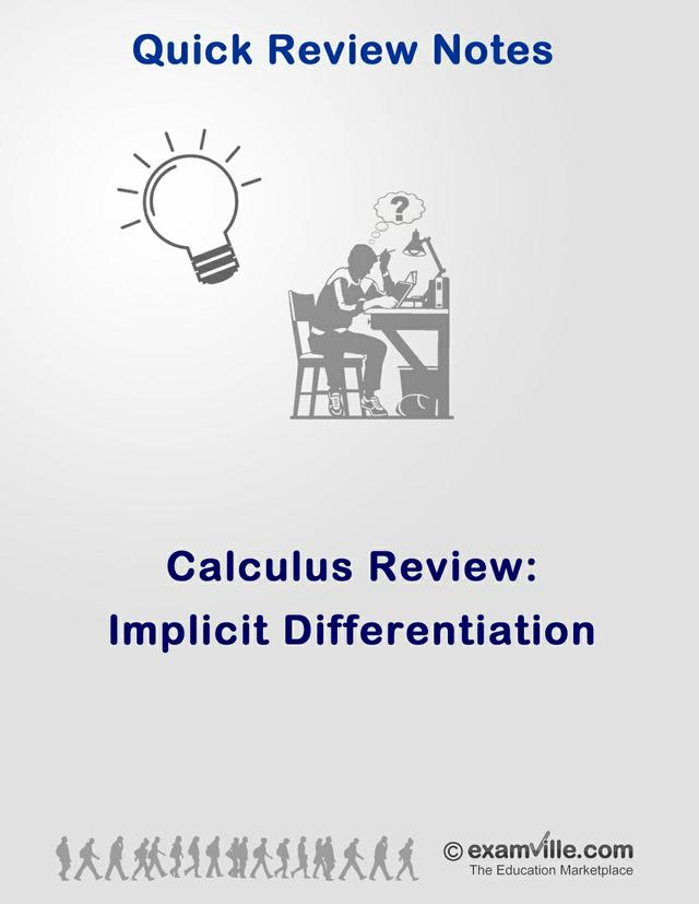 Calculus Review - Implicit Differentiation