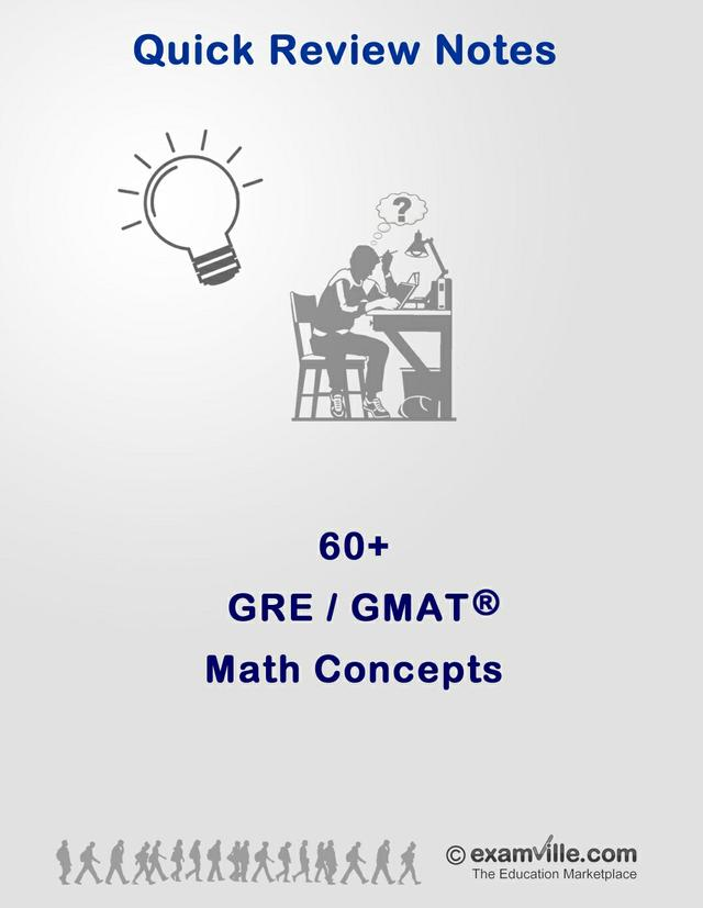 60+ Math Concepts & Formula for the GRE and GMAT
