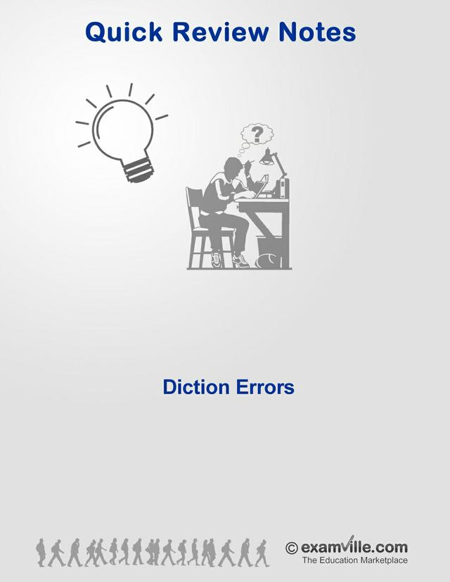 English Grammar Review - Diction Errors