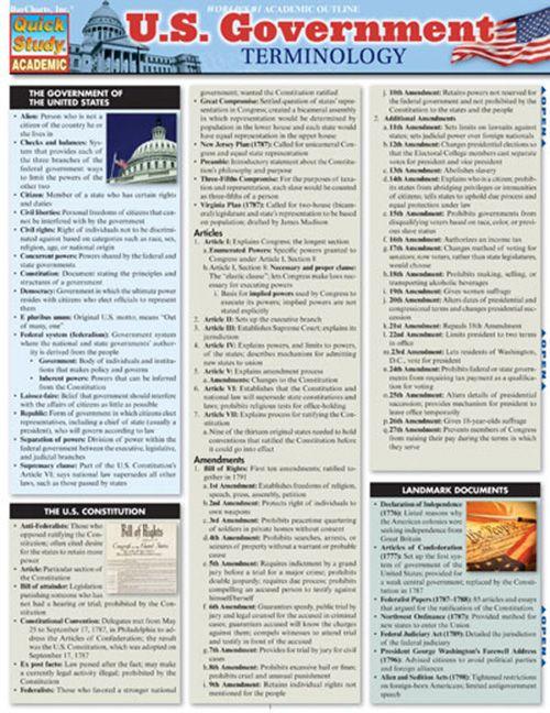 U.S. Government Terminology
