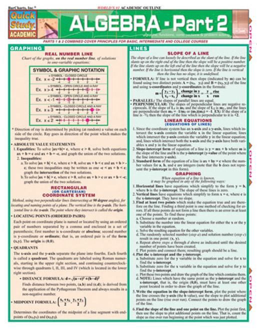 Algebra Part 2 for High School and College Students