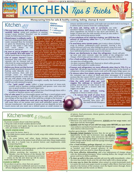 Kitchen Tips & Tricks