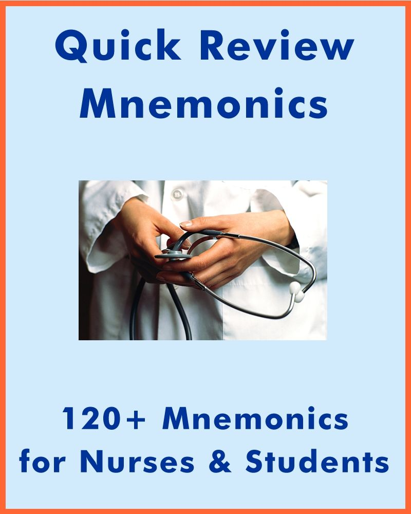120+ Mnemonics for Nursing & Health Sciences Students