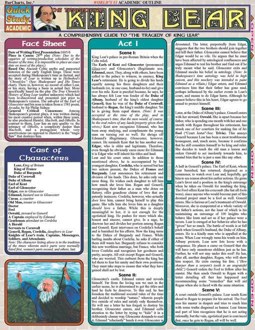 Free Worksheets king lear worksheets : King Lear : Examville - Sellfy.com