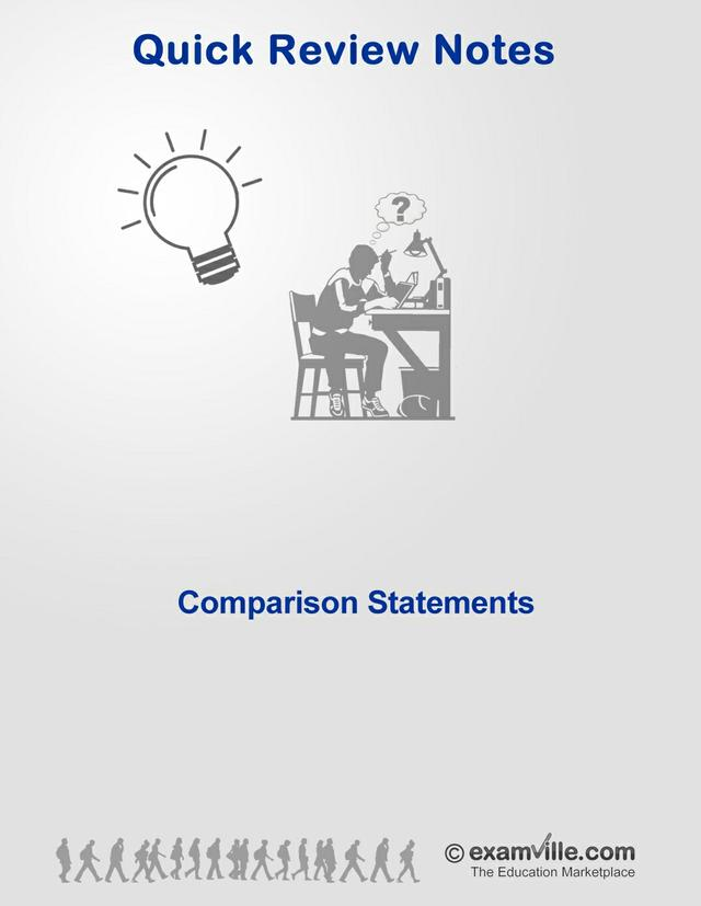 English Grammar Review - Comparison Statements