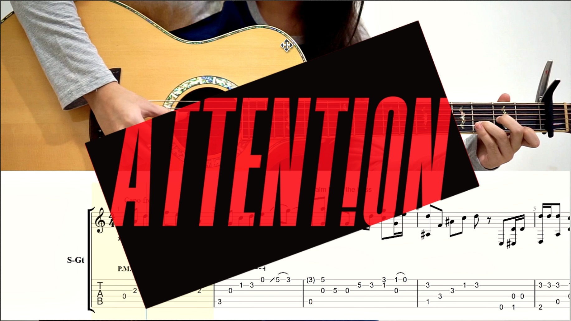 (Charlie Puth) Attention - Fingerstyle Guitar TABS [Guitar Pro 5]