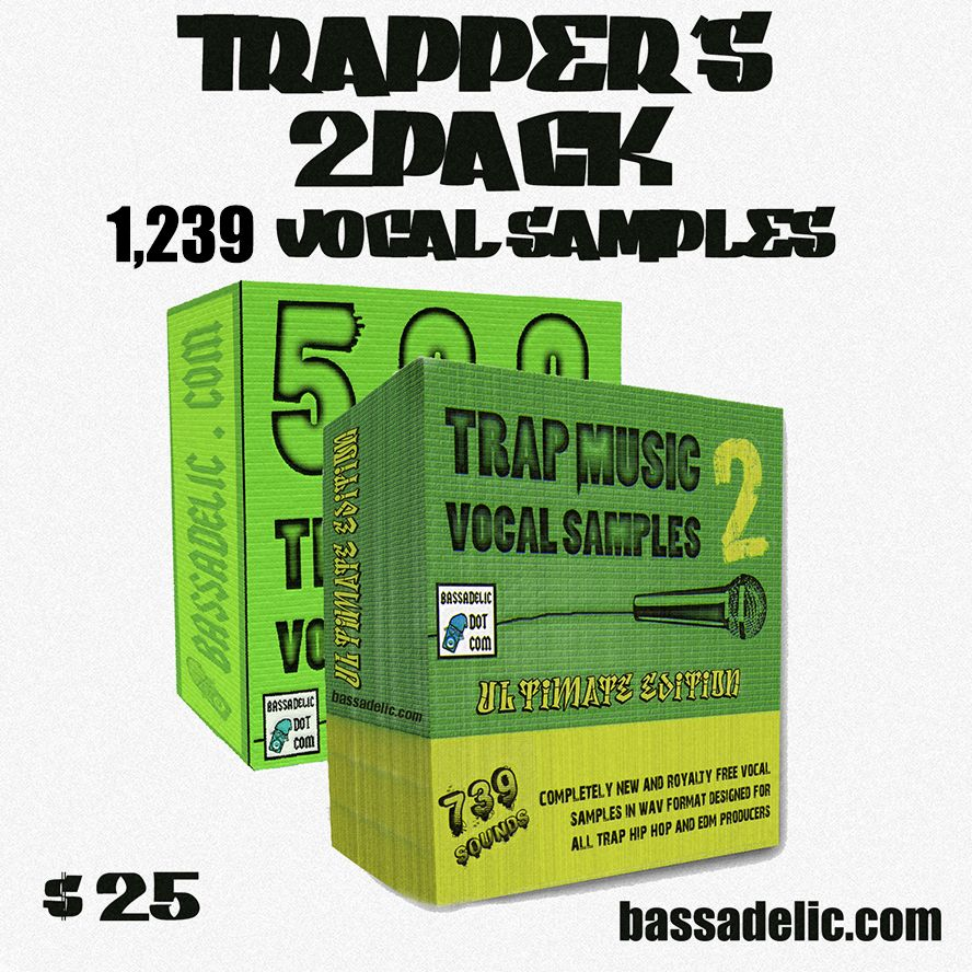 Trapper's 2PACK (1239 Vocal Samples)