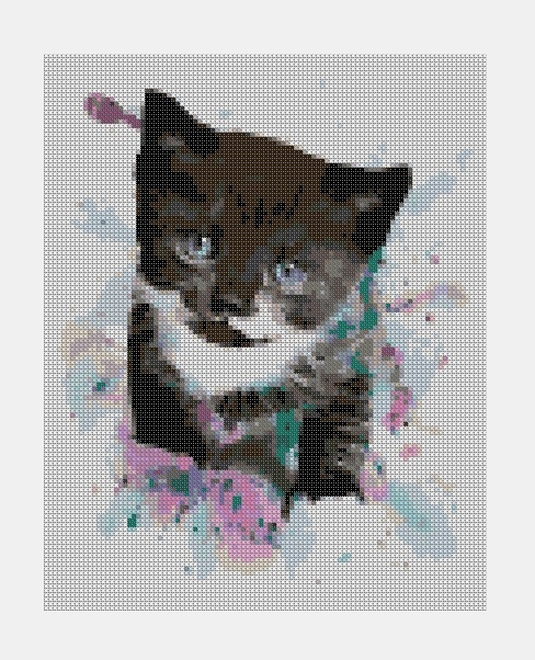 Cross Stitch PDF Cat
