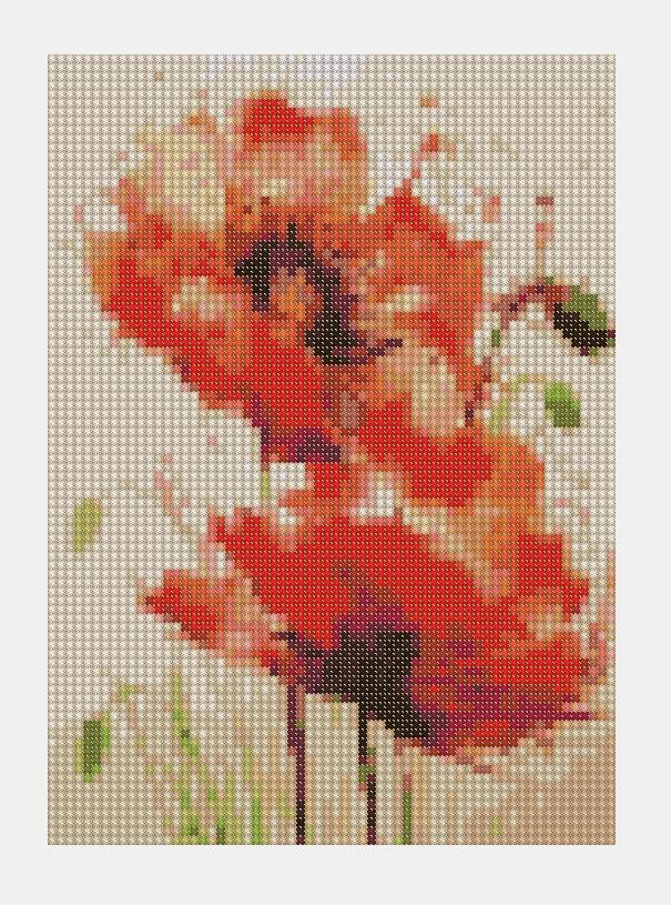 Cross Stitch PDF Flower