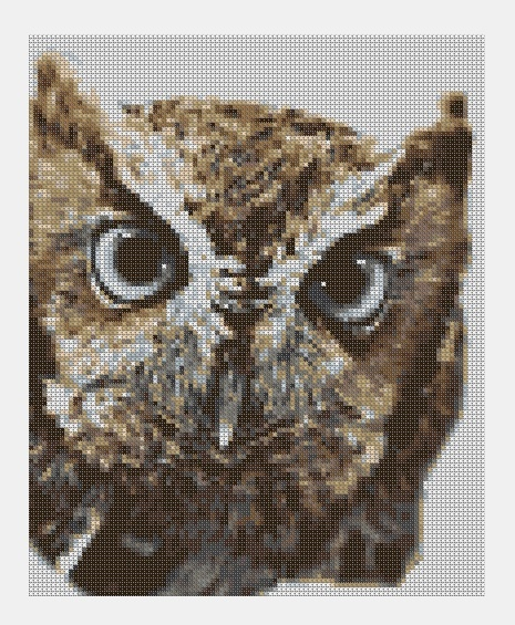 Cross Stitch PDF Owl