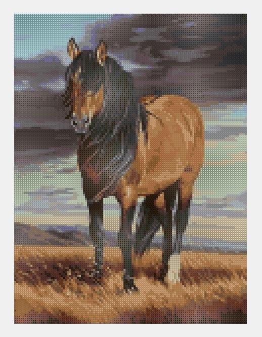 Cross Stitch PDF Horse