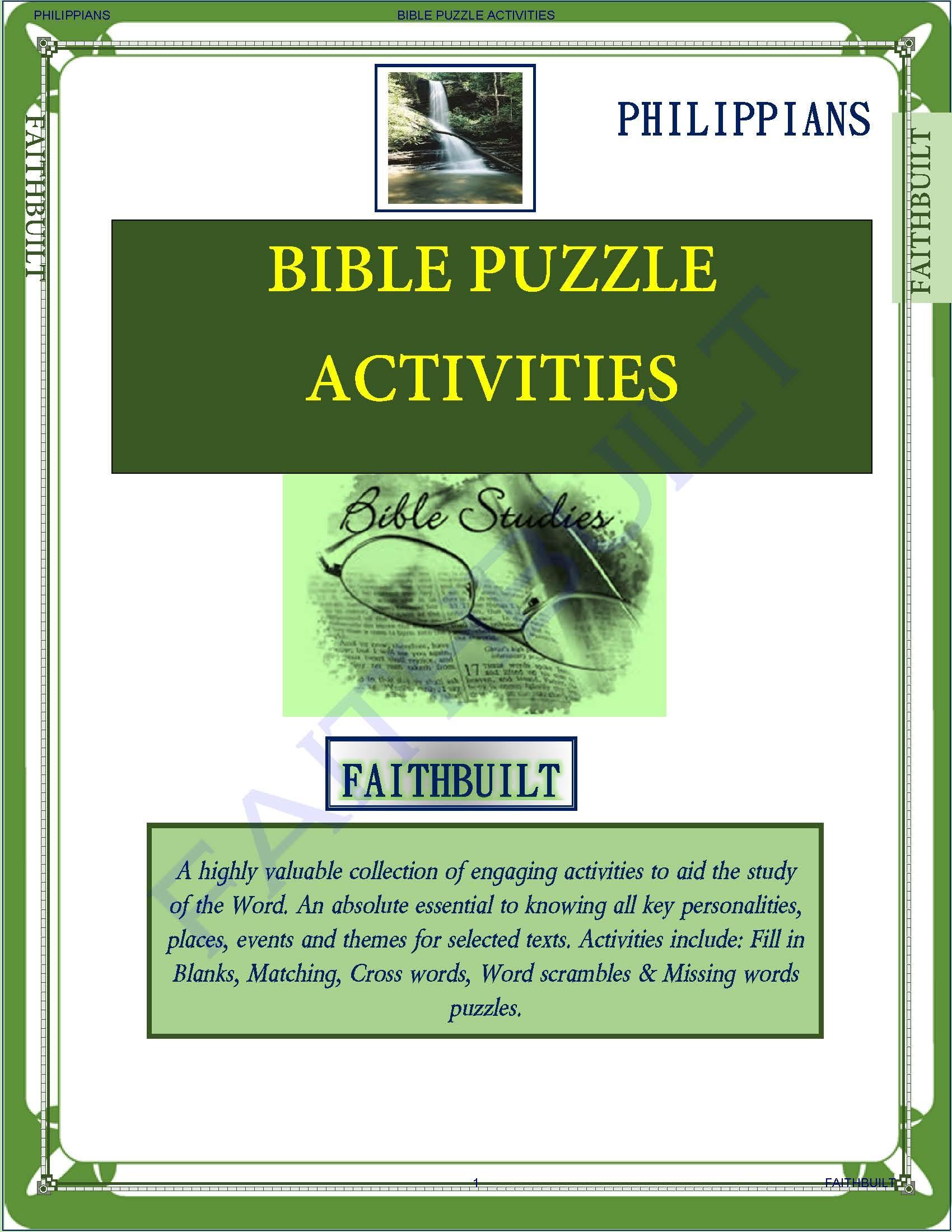 PHILIPPIANS : BIBLE PUZZLES & ACTIVITIES