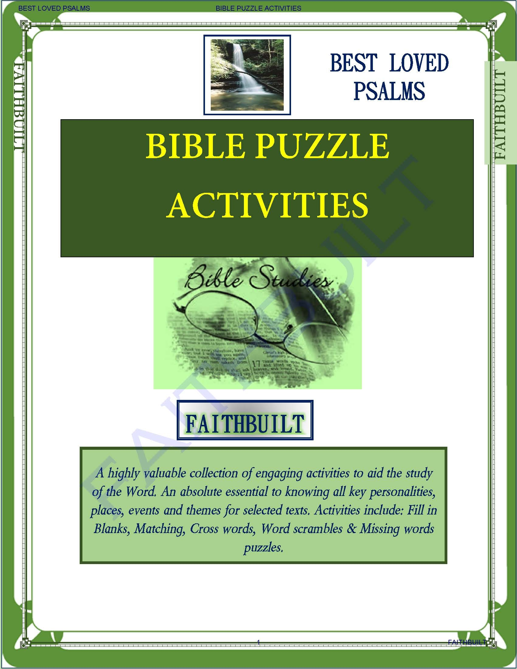 PSALMS: BIBLE PUZZLES AND ACTIVITIES