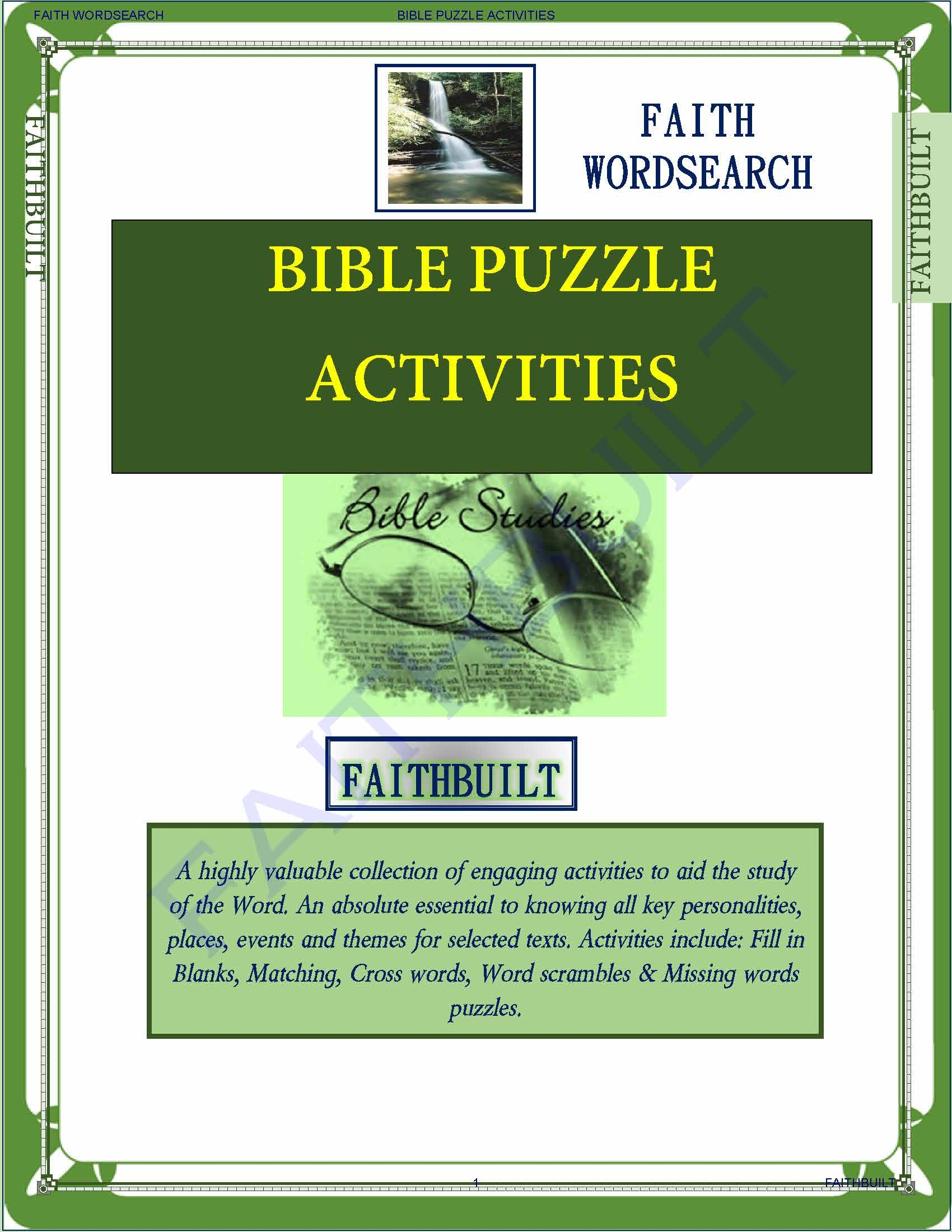 Free download FAITH Wordsearch
