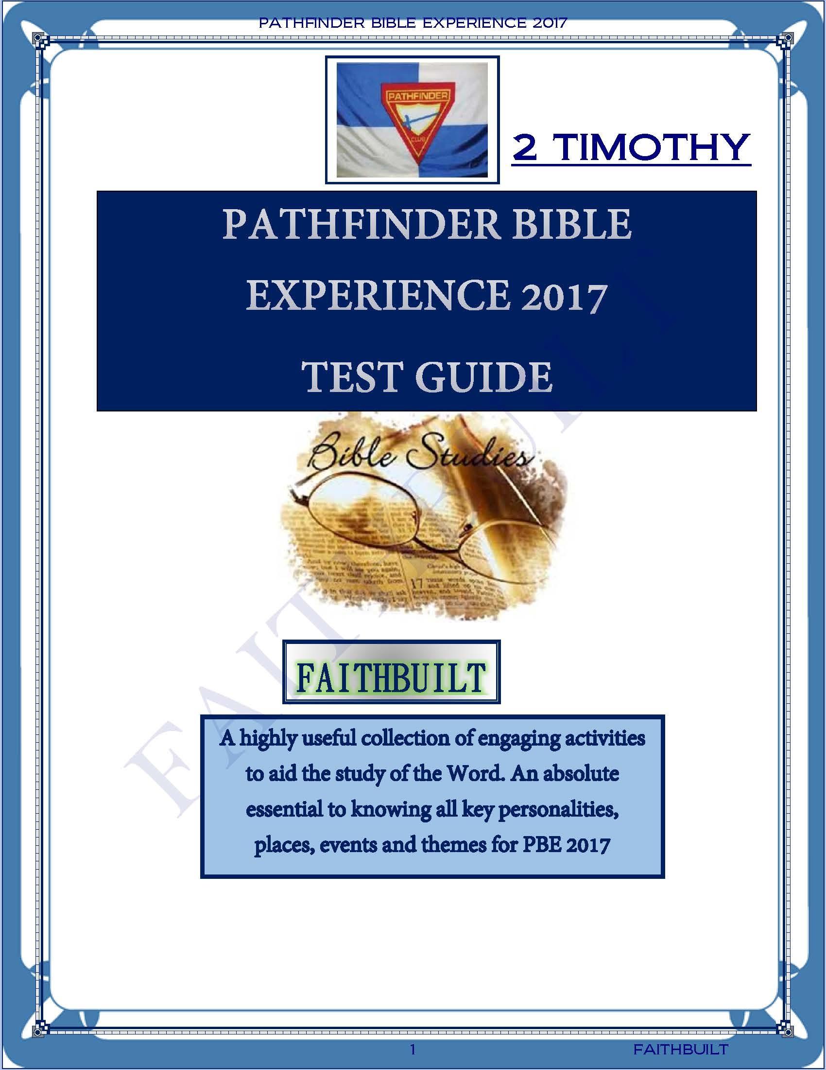 PBE 2017  1 TIMOTHY