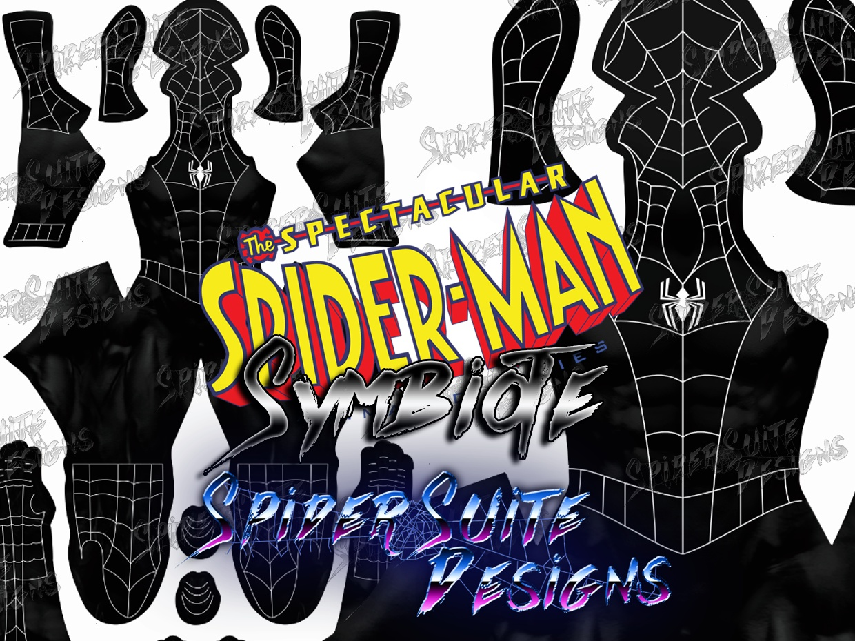 Spectacular Symbiote Spiderman Disney XD 2017 Pattern