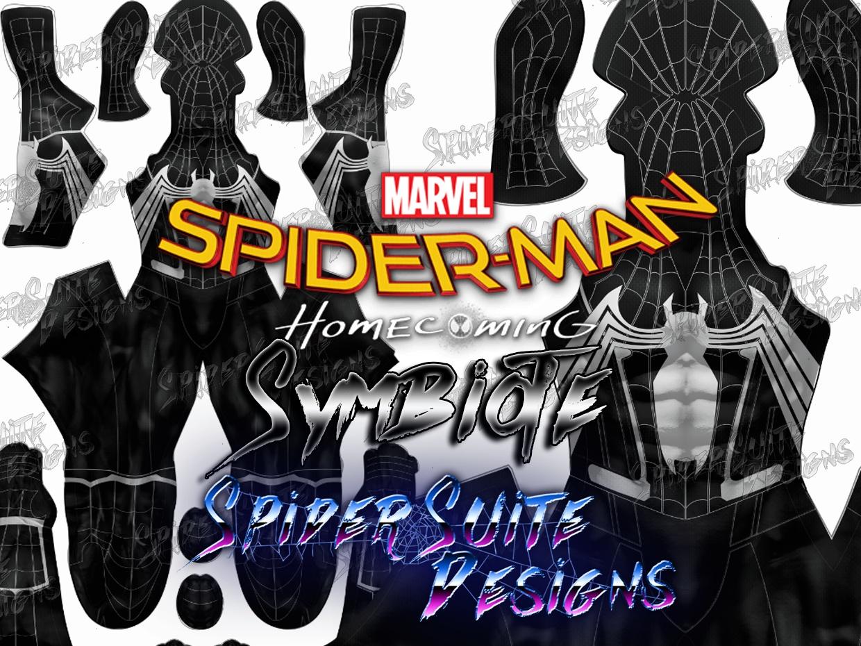 Spiderman Homecoming Symbiote 2017 Pattern