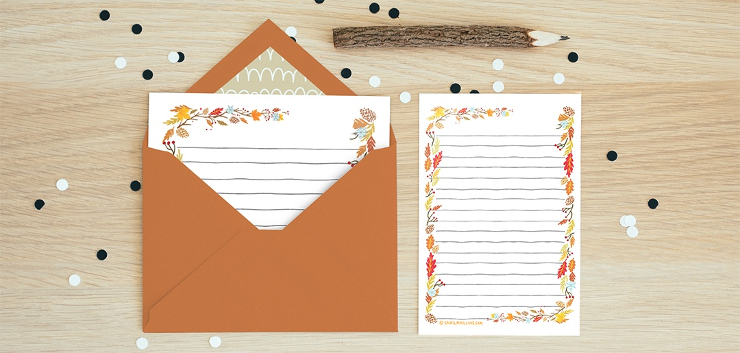 Autumn Letter Paper - Printable