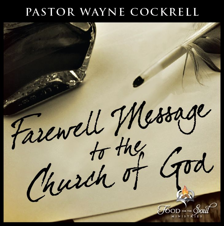 Farewell Message to the Church of God