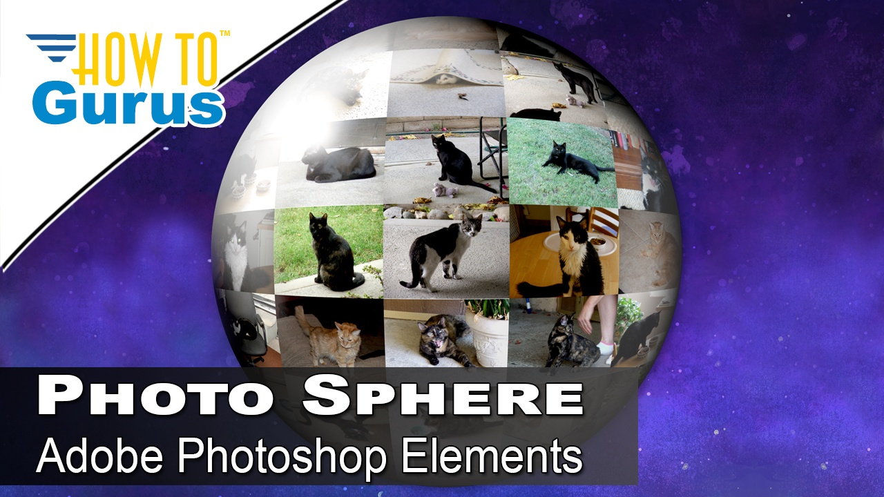 Photoshop Elements Photo Picture Sphere Effect: Put Pictures on a Globe 2018 15 14 13 12 11 Tutorial