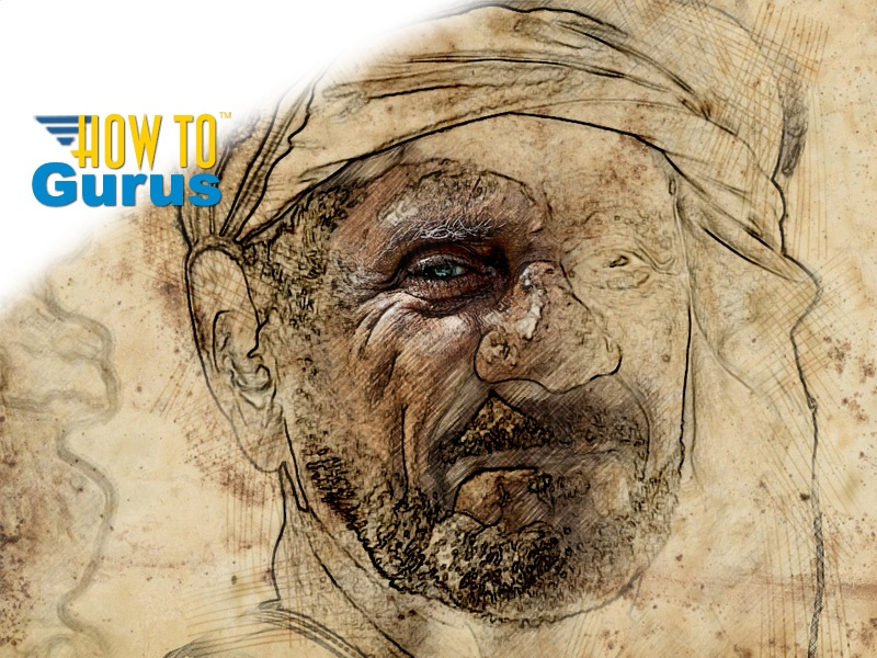How to do an Old Fashioned Sketch Photo Manipulation in Photoshop CS5 CS6 CC Tutorial