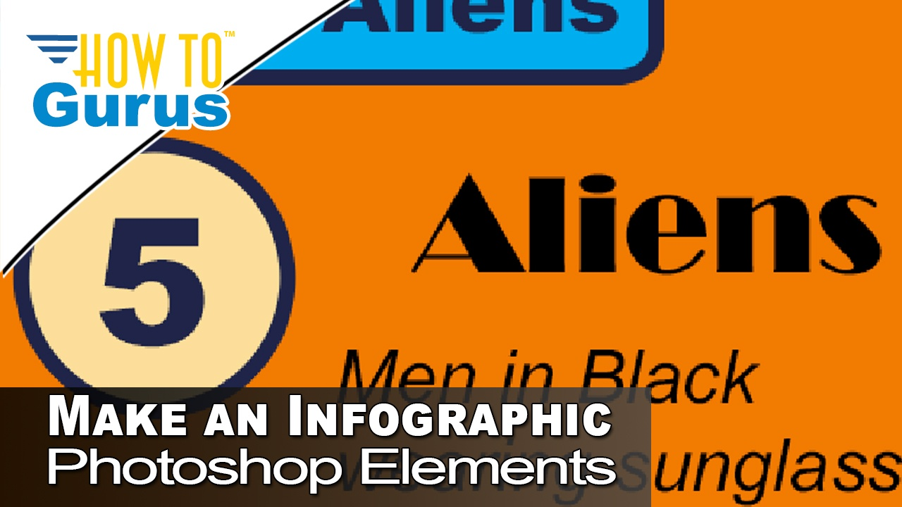 How to Make an Infographic Design and Template using Photoshop Elements 2018 15 Tutorial