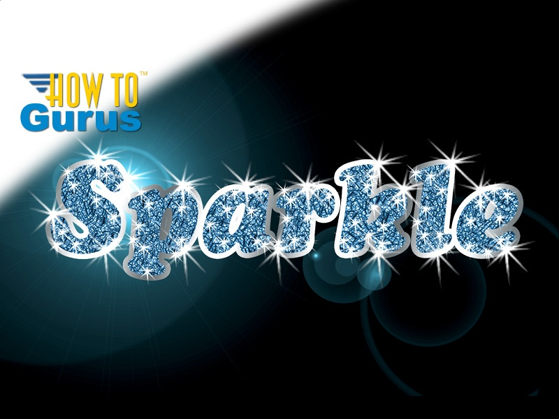 How to Make Glitter Filled Sparkle Text in Photoshop Elements 11 12 13 14 Tutorial