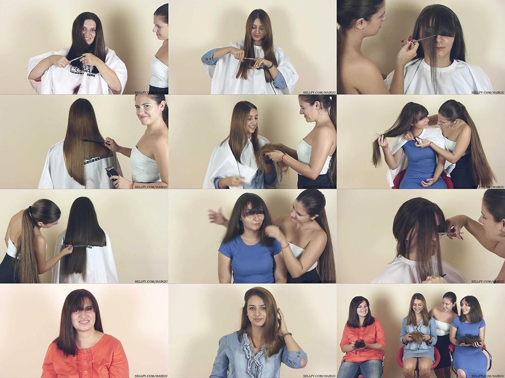 Ceca, Marijana, and Tatjana Haircut Part 2: Haircut Game