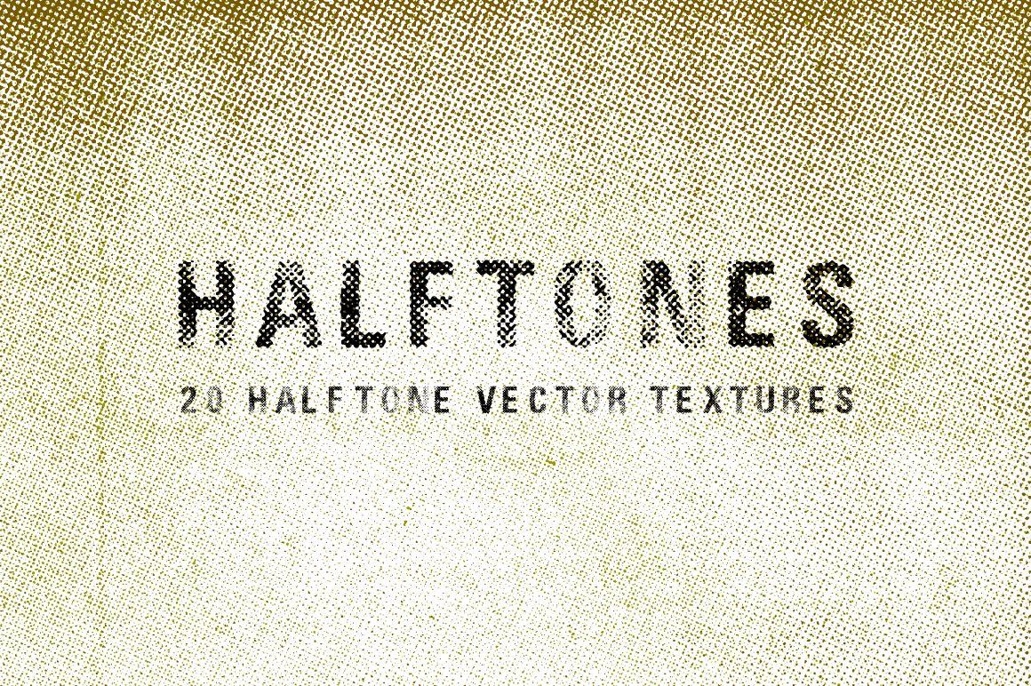 20 Halftone Vector Textures