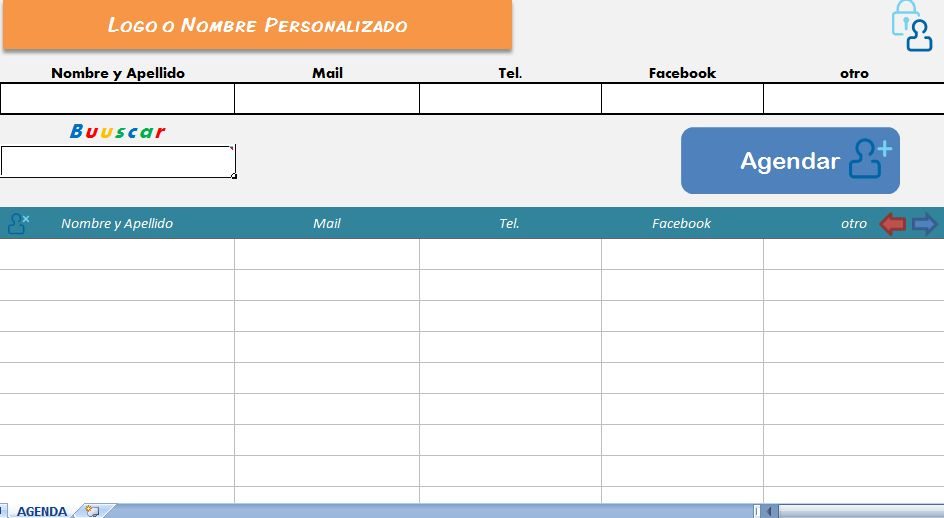 Agenda en Excel V1.5 (Address Book)