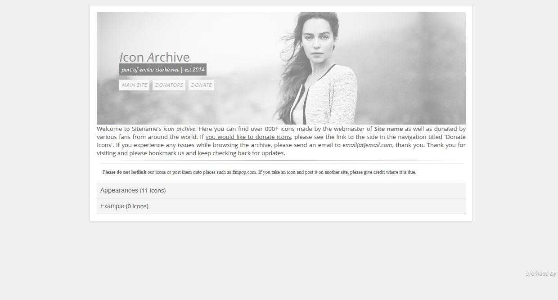Icon Archive Premade 7 (Responsive)