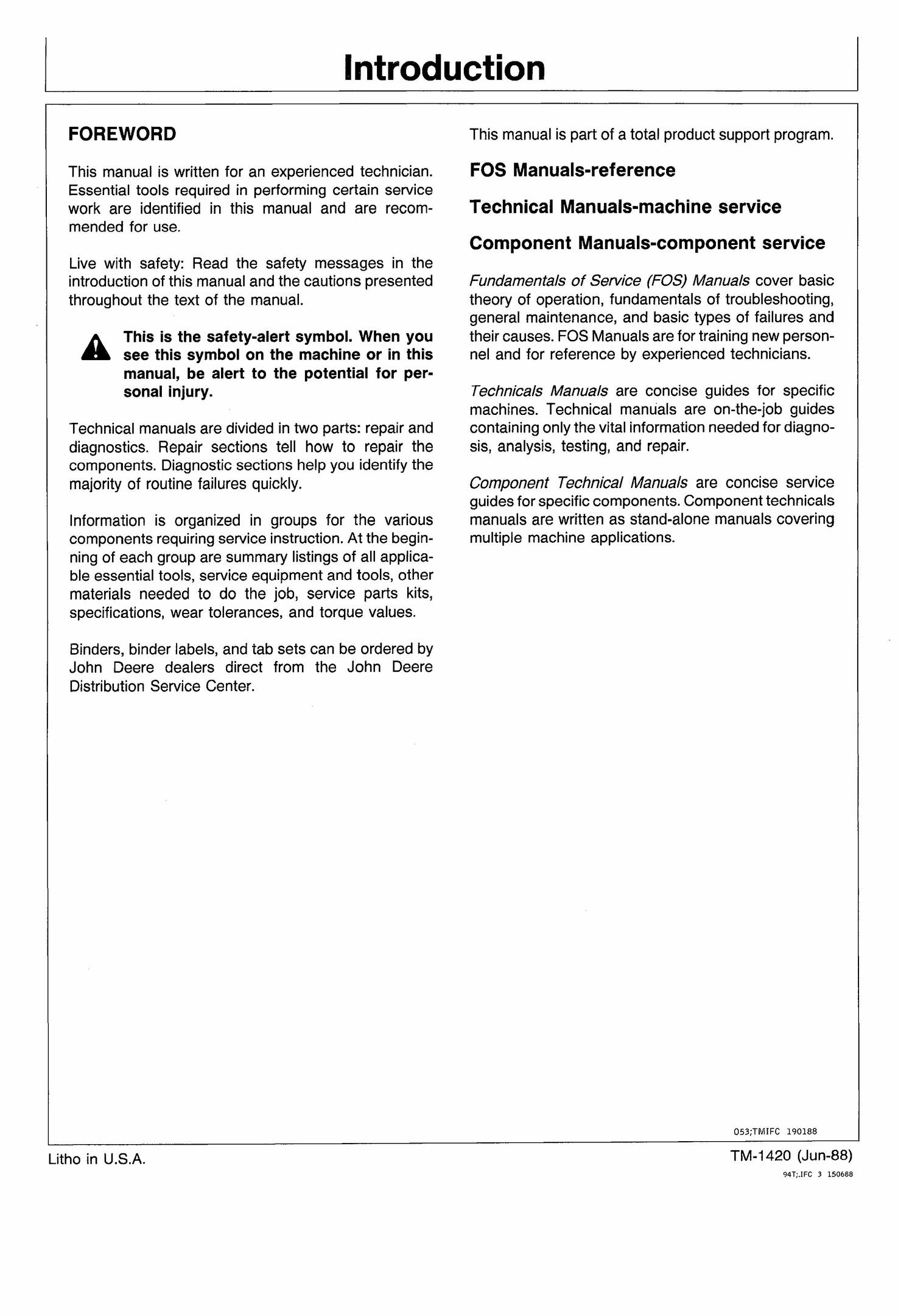 TM1420 John Deere 210C, 310C, 315C Backhoe Loader Service Repair Technical Manual Pdf Download